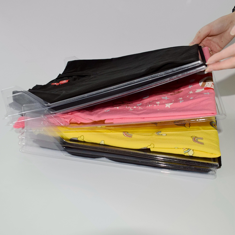 10pcs T <font><b>shirt</b></font> clothes <font><b>organizer</b></font> Closet Storage Travel clothes Organization System T <font><b>Shirt</b></font> Folding Board Home necessity <font><b>Organizer</b></font> image