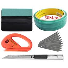 Car Wrap Vinyl Tools Vehicle Window Tint Kit Knifeless Tape Suede Felt Squeegee Solar Film Cutter Utility Knife and Blades K116