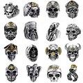 Кольцо мужское в готическом стиле, регулируемое в стиле панк, скелет, дьявол, призрак, офицер смерти, змея, капитан