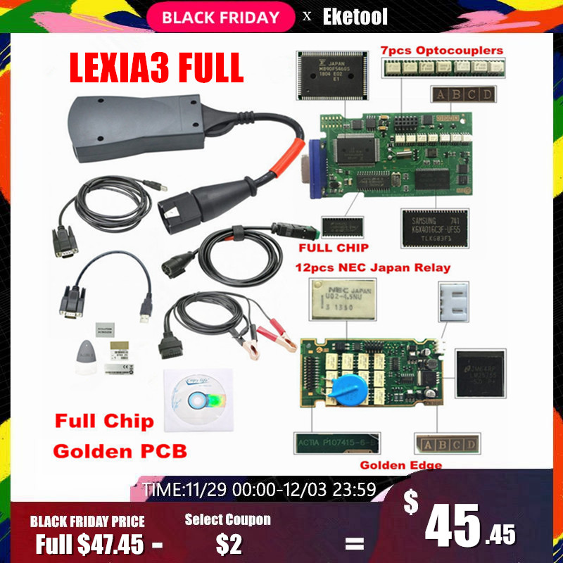 Lexia3 Full Chips Firmware 921815C LEXIA 3 PP2000 Diagbox V7.83 For Citroen/Peugeot 12 NEC Relay 7 Optocouplers OBD2 Diagnostic