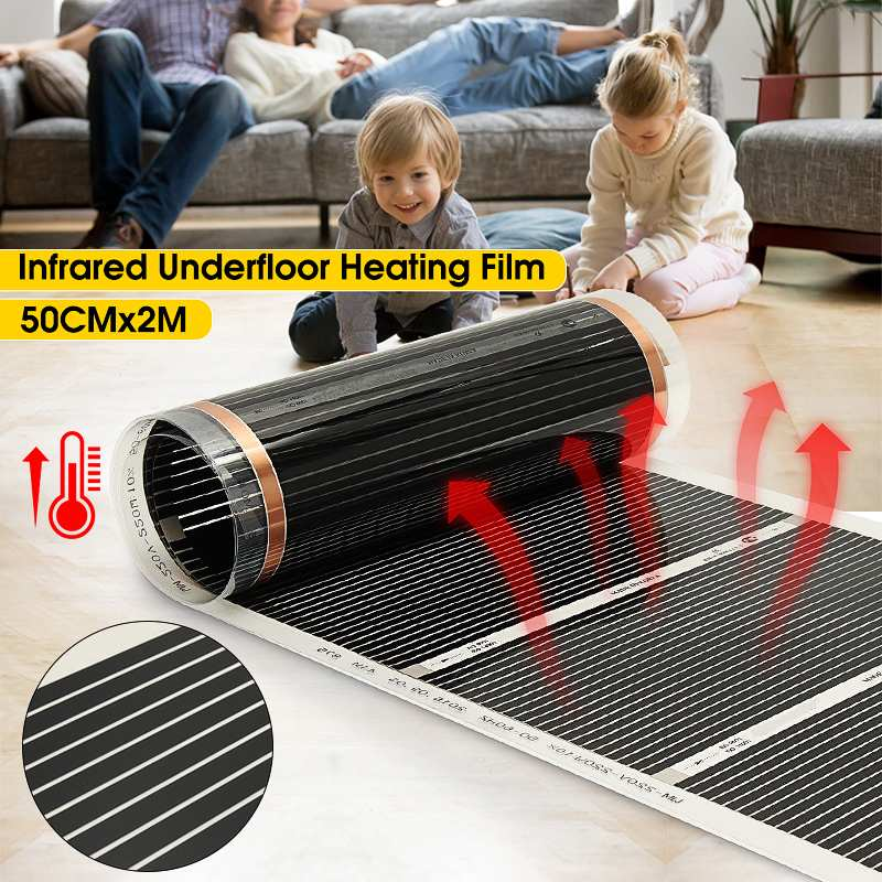 1pcs AC 220V Far Infrared Home Floor Heating Film Building Underfloor Heating Electric Floor Warming Warm Mat Carbon Film Heater