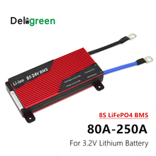 24V BMS 8S 80A 100A 120A 150A 200A 250A PCM for 3.2V LiFePO4 Lithium Battery for Electric Bicycle Scooter waterproof