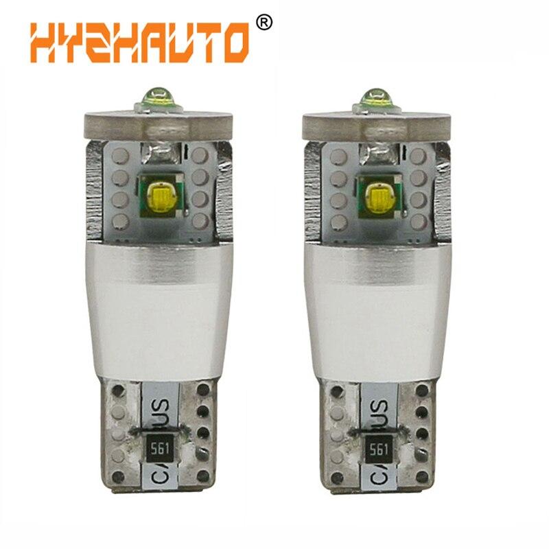 HYZHAUTO T10 W5W LED Canbus автомобильные фары XP-E светодиодные лампы 12V Авто клиновидная лампа зазор свет супер яркий белый 500Lm 2 шт./лот