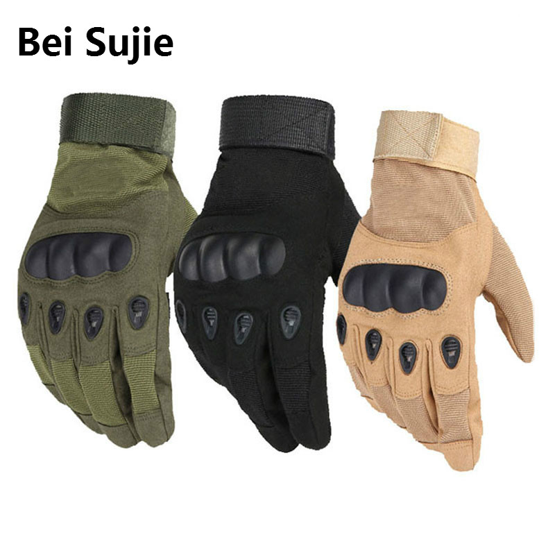 Bei Sujie Army Military Tactical Gloves Paintball Airsoft Shooting Combat Anti-Skid Bicycle Hard Knuckle Full Finger Gloves