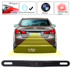 Car License Plate Backup Reverse Camera Rear View Parking recul Camera with Waterproof HD Color Wide Viewing Angle Night Vision