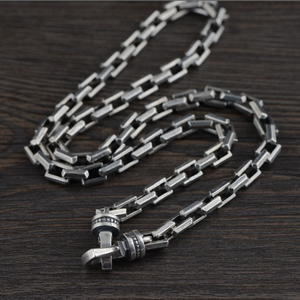 Image 5 - Collar de plata de ley 925 para hombre, cadena regalo de 7mm de grosor