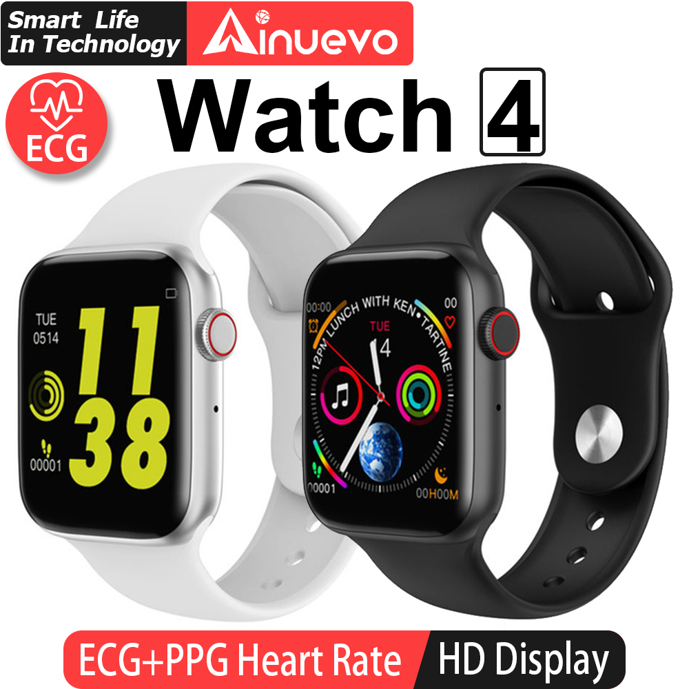 Ainuevo Smart Watch 44mm Bluetooth Call Smart Watch ECG Heart Rate Monitor W34 W55 Smartwatch for Android iPhone Watch Band