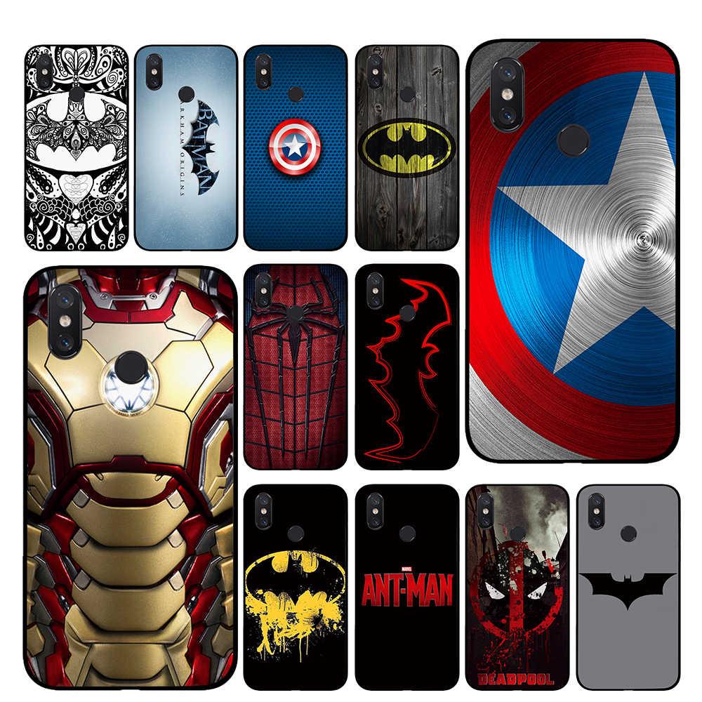 Batman Ironman Örümcek Adam logo marvel DC TPU Telefon kılıfları Xiaomi Redmi için GO 4 5 6 7 Pro 4A 4X 5A 5 Artı 6A arka kapak