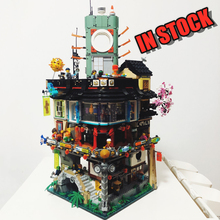 цены Ninjago City 06066 Masters of Spinjitzu Compatible with Iego 70620 LED Light Building Blocks Bricks Toys lepinblocks Best Gifts