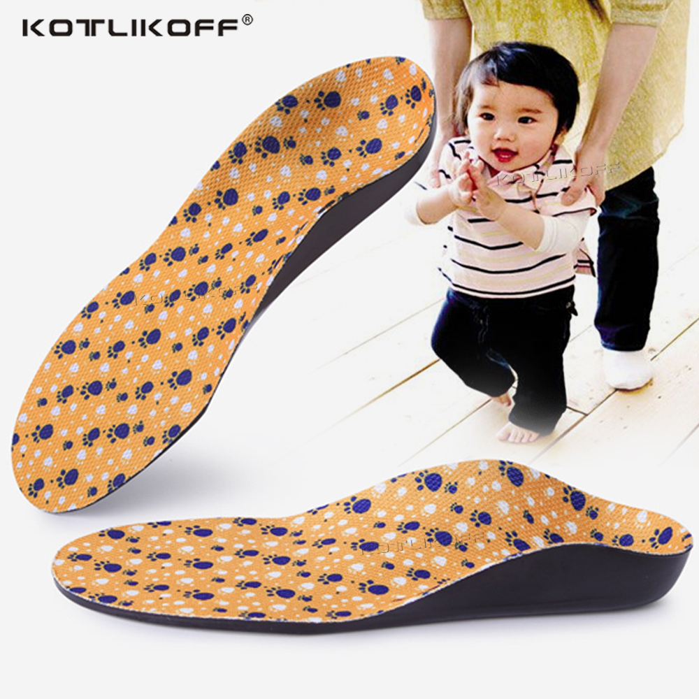 KOTLIKOFF Kids Children Flat Feet Arch Support Insoles Orthotic O/X Leg Foot Valgus Orthopedic Shoe Inserts Shoe Sole