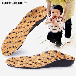 KOTLIKOFF Kids Children Flat Feet Arch Support Insoles Orthotic O/X Leg Foot Valgus Orthopedic Shoe Inserts shoe sole