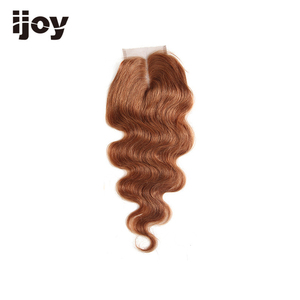 "Image 3 - Human Hair With 4x4 Lace Closure #1B/4/27/30/33/99J/Burgundy 8"" 20"" M Non Remy Body Wave Closure Brazilian Hair Extension IJOY"