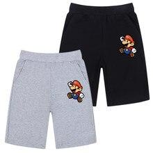 Verão da criança do bebê casual shorts crianças menino solto calças curtas infantil super mario algodão elástico na cintura curta