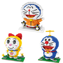 hot LegoINGlys creators Classic japan cat robot cartoon Doraemon mini micro diamond block model Dorami nano bricks toys for gift