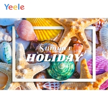 Yeele Summer Beach Party Photocall Colorful Shells Photography Backdrops Personalized Photographic Backgrounds For Photo Studio