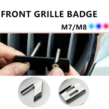 Car Accessories Front Grille Slot Badge Bracket for M7 760Li 730Li 740 750 760 730 M8 Series Car Styling M Color Car Stickers image