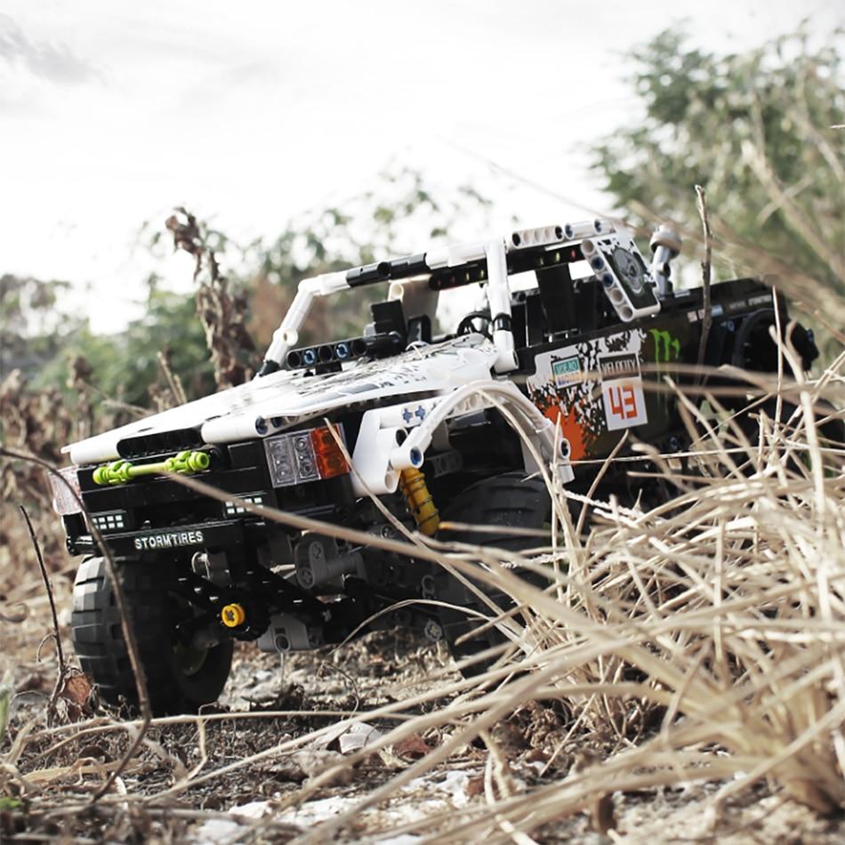 1090Pcs Technic City Off Road Vehicle Model Building Blocks SUV RC/non-RC Racing Car Truck Bricks for Toys Boys 1