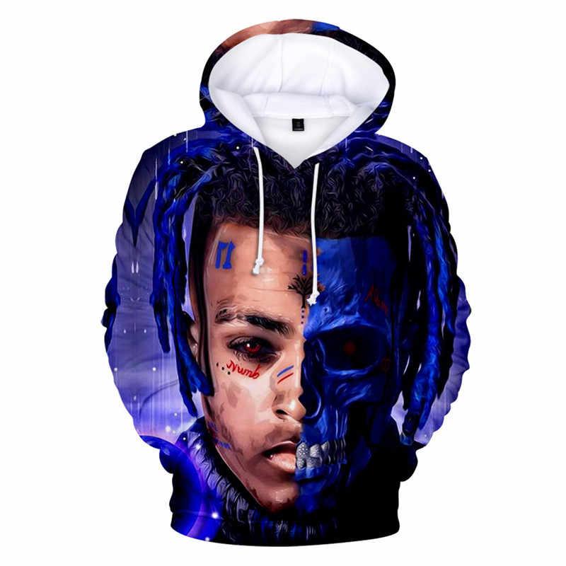 Xxxtentacion Hoodie Sedih Pria Kaus Rapper Hip Hop Berkerudung Pullover Sweatershirts Swag Hoody Katun Balas Dendam Membunuh Atasan