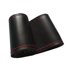 Auto Accessoires Auto Stuurhoes 38 Cm Micro Fiber Lederen Diy Vlecht Op De Stuurwiel Cover Met naald En Draad