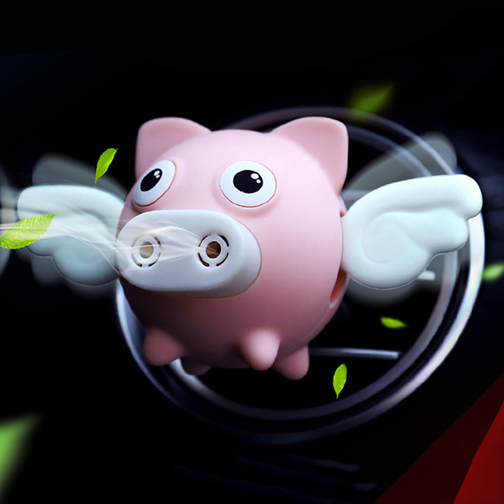 Car Air Freshener Flying Pig Doll Shaking Wings Perfume Clip Air Conditioning Vent Perfume Indoor Air Purifier Holiday Gift