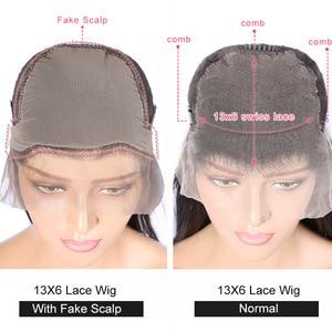 Image 5 - Eva kręcone ludzkie włosy peruki dla kobiet 13x6 koronki przodu włosów ludzkich peruk wstępnie oskubane 370 koronki przodu peruka brazylijski fałszywe skóry głowy peruka