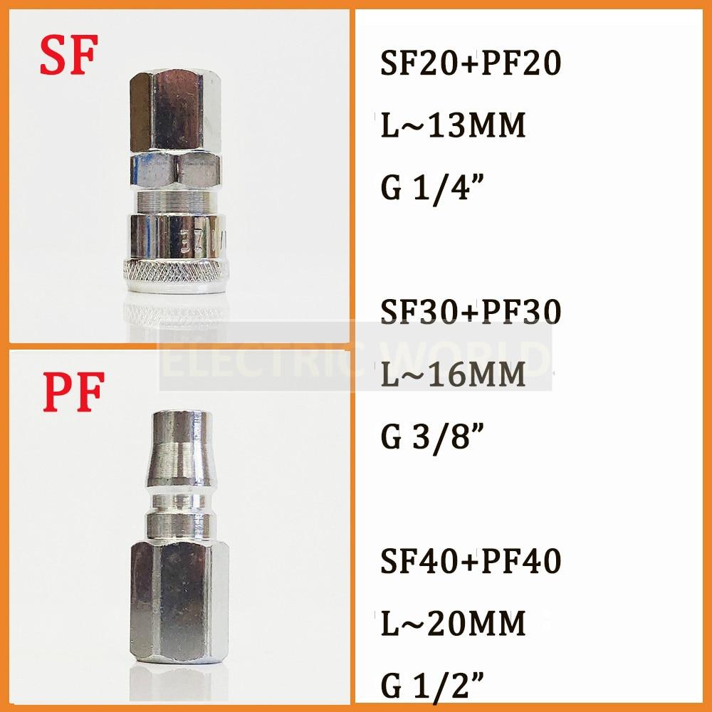 2 Pcs SM-30 16mm 3//8BSP Male Thread Female Pneumatic Air Quick Coupler Fitting