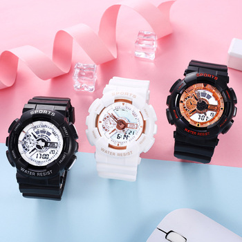 2020 new fashion watch men's watch couple candy color watch multi-function dual movement sports and leisure outdoor watch 1children time sports watch leisure new 5per ytl0815 ttb01