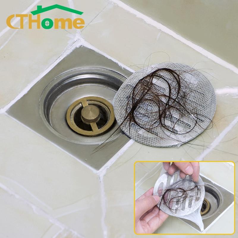100PCS Hair Catcher Bags Sink Filter Drain Bathroom Shower Filter Hair Catcher Mesh Bag Sink Strainer Filter Water Stopper