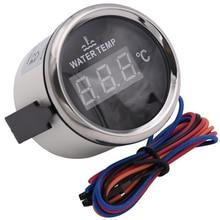 2 52MM Car Digital Blue Led Water Temperature Gauge Celsius Accessories Interior racing auto water tank level indicator
