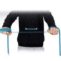 Neue Spirale Stretch Keychain Elastische Frühling Seil Schlüssel Ring Metall Karabiner Für Outdoor Anti-verloren Telefon Frühling Schlüssel Kabel verschluss Haken