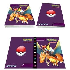 Image 2 - Neueste Stile 80/240 stücke Halter Album Spielzeug Für Neuheit Geschenk Pokemones Karten Buch Album
