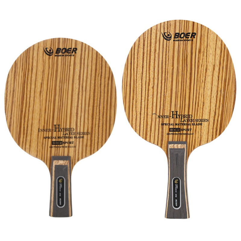 BOER 5 Ply Arylate Carbon Fiber Table Tennis Blade Lightweight Ping Pong Racket Blade Table Tennis Accessories