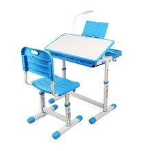 Children Desk and Chair Set Multifunctional Ergonomic Desk for Kids Student Adjustable Writing Study Desk Combination Desktop