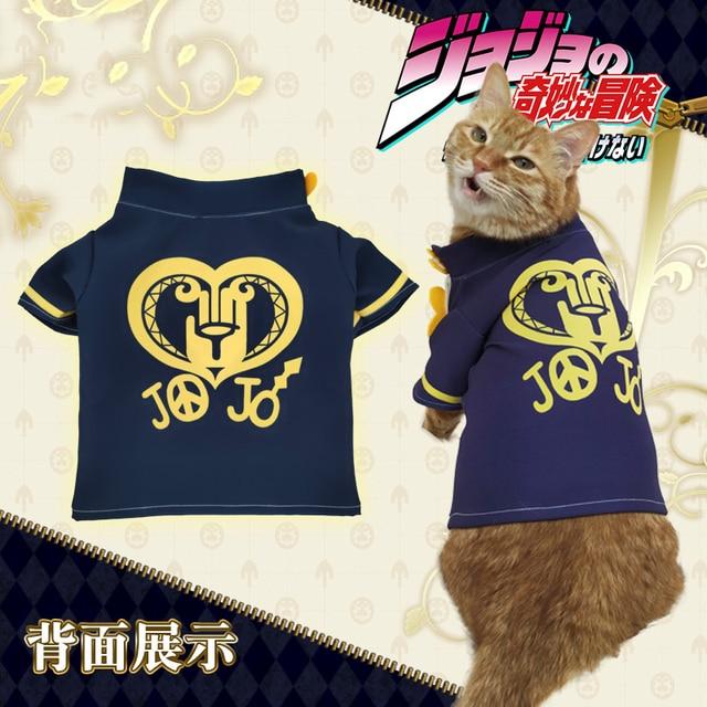 Anime JoJo's Bizarre Adventure Higashikata Josuke Cat Cosplay Costume T-shirt Cute Dog Clothing Pet supplies Photo prop Gifts 3