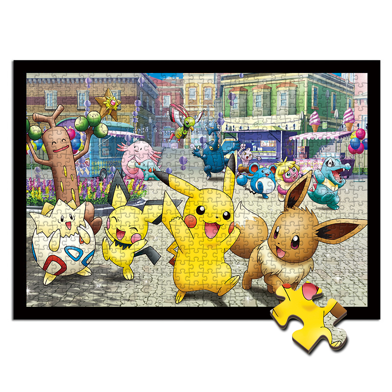 Pikachu Puzzle 1000 Pieces Wood Toys  Pokemon Educational Toys Adult Decompression Puzzles For Kids