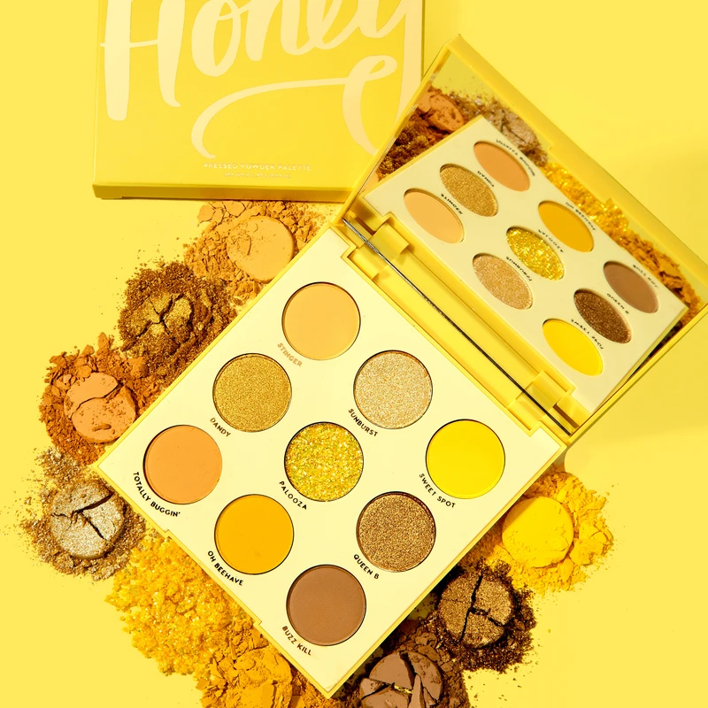 9 Colors Uh-huh Honey Glitter And Matte Eyeshadow Palette