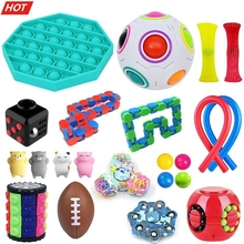 22Pack Fidget Sensory Toy Set Push Bubble Toy Stress Relief Toys Autism Anxiety Squeezing Toy Special Toys For Kids Adults Gifts