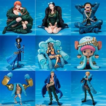 One Piece Figure Anime 20th Anniversary Ver. Luffy Zoro Chopper Usopp Nami Sanji Robin Franky Brook Action Figure PVC Model Toy цена 2017
