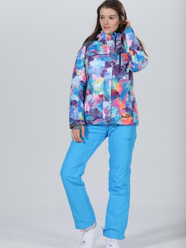 Winter Suit Ski Jacket Ski Suit Women Winter Jacket Female Snowboard Jacket Skiing Sport Suit Waterproof Snowboard Suit Snowsuit