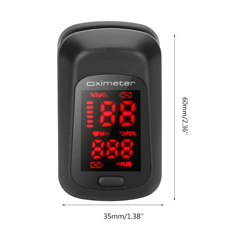 Pulse Oximeter Finger Fingertip Pulse Oxygen Saturation Monitor Heart Rate Meter 40JA