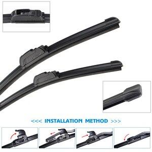 Стеклоочистители для ветрового стекла BROSHOO, лезвия для Nissan Altima, подходят для стандартных крючков 2008, 2009, 2010, 2011, 2012, 2013, 2014, автомобильные аксессуары