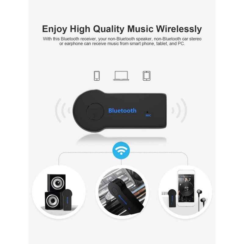3.5 ミリメートルジャックの Aux オーディオ MP3 音楽の Bluetooth レシーバーカーキットワイヤレスハンズフリースピーカーヘッドホンアダプタ