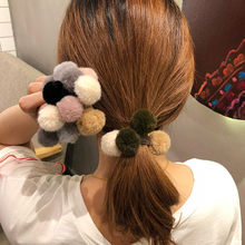 Women Creative Pompom Hair Ties Soft Hair Ropes for Girls Cute Lovely Scrunchies Ponytail Holder hair clips Hair Accessories цена