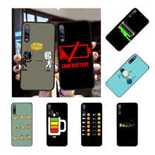 NBDRUICAI Battery Life Cycle Black TPU Soft Phone Case Cover For Huawei Y5 Y6 Y7 Y9 Prime 2019 Enjoy 7 8 9 10 Plus(China)