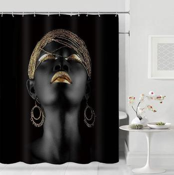 douchegordijn American Girl Shower Curtain Bathroom Waterproof Curtains Hanging For Home Decoration