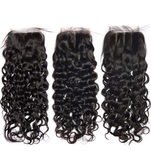 Image 5 - Lanqi water wave bundles with closure 100% human hair bundles with closure brazilian hair weave bundles non remy hair extensions