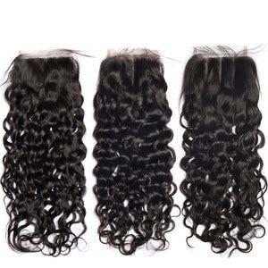 Image 5 - Su dalgası demetleri ile kapatma ile brezilyalı saç örgü demetleri ile kapatma olmayan remy ıslak ve dalgalı insan saç demetleri ile kapatma