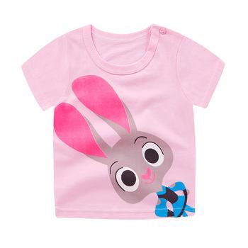 Letnie bawełniane koszulki dla dziewczynek dziecięce koszulki z krótkim rękawem koszulki dla dzieci dzieci Tshirt chłopcy kreskówki koszulki koszulki dla dzieci tanie i dobre opinie Na co dzień COTTON Pasuje prawda na wymiar weź swój normalny rozmiar Tees O-neck Topy Cartoon Unisex