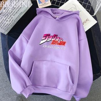JoJo's Bizarre Adventure Hoodies Sweatshirts Men Women Harajuku Hoodies Anime Fashion Hoodie Japanese Streetwear Cartoon Hoodies