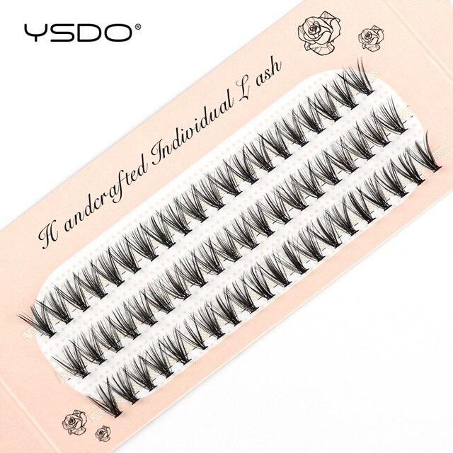 YSDO 60 Bundles Mink Eyelash Extension Natural Volume False Eyelashes Individual 10/20/30D Cluster Lashes Makeup Lashes Bunche 2